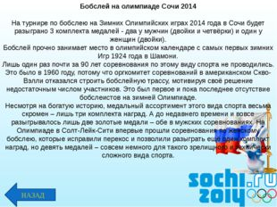 Бобслей на олимпиаде Сочи 2014 На турнире по бобслею на Зимних Олимпийских иг