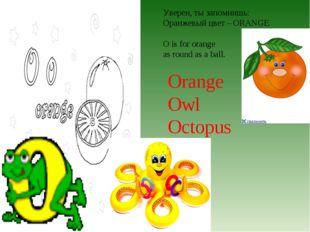 Уверен, ты запомнишь: Оранжевый цвет – ORANGE O is for orange as round as a b