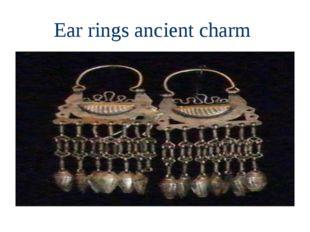 Ear rings ancient charm