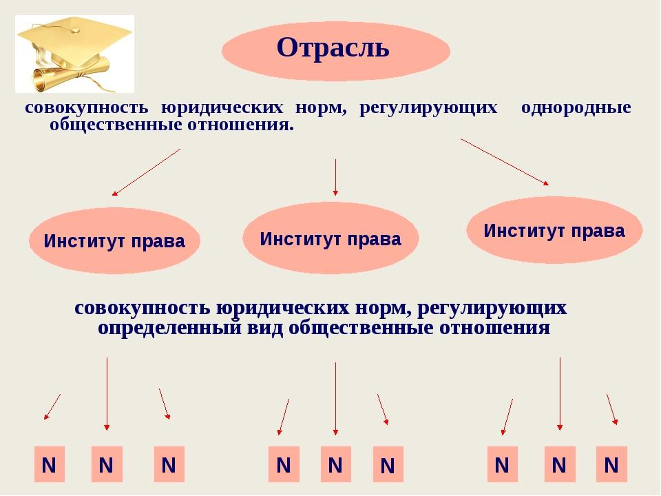 Отрасль Институт права Институт права Институт права N N N N N N N N N совок...