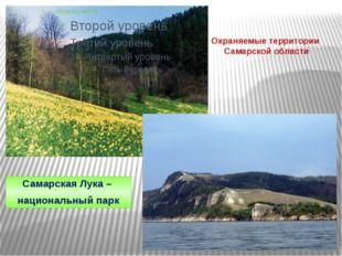 Охраняемые территории Самарской области Самарская Лука – национальный парк