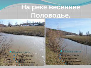 На реке весеннее Половодье.