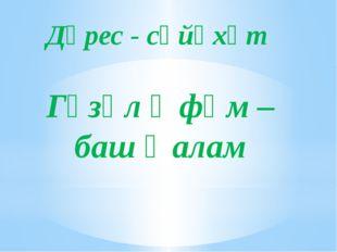 Дәрес - сәйәхәт Гүзәл Өфөм – баш ҡалам