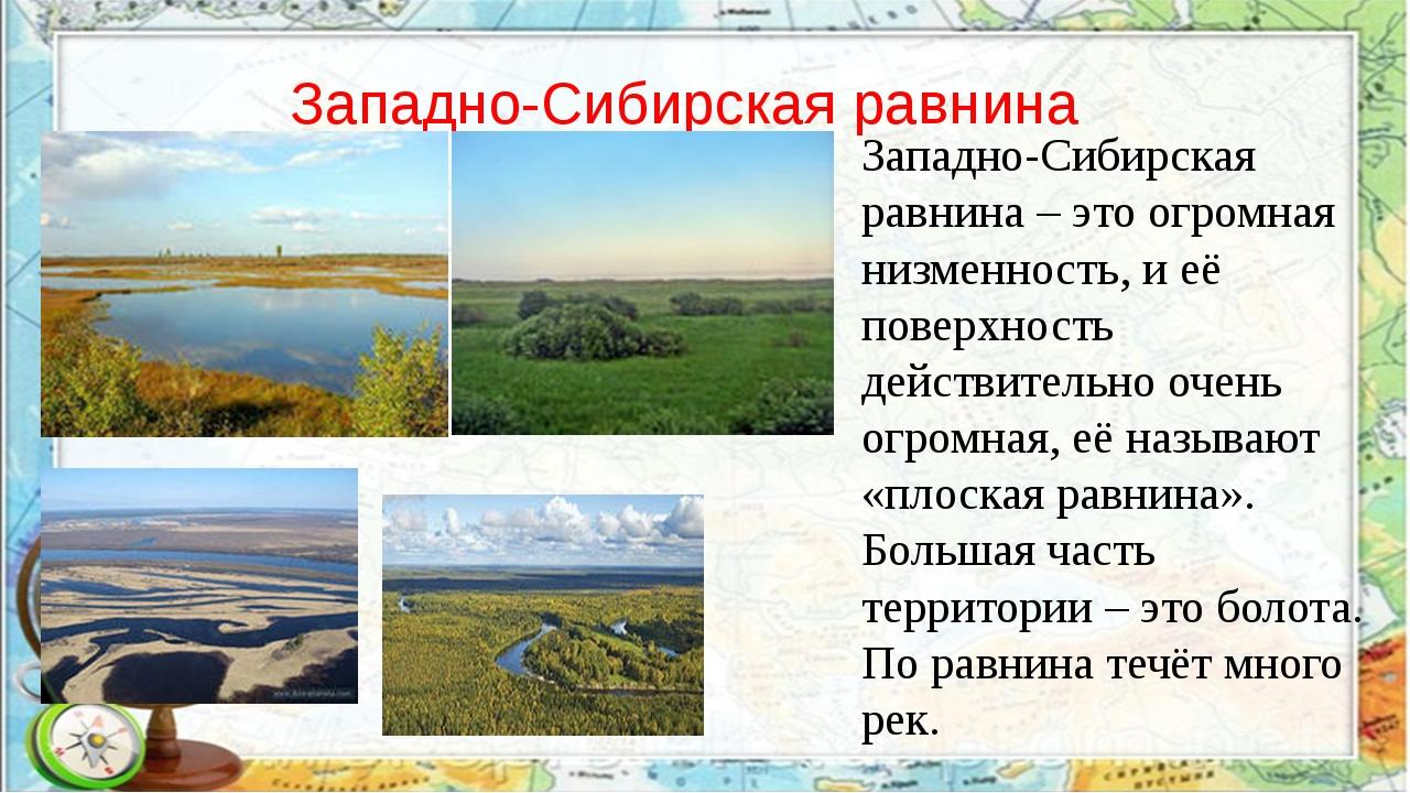 Западно-Сибирская равнина Западно-Сибирская равнина – это огромная низменнос...