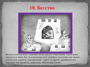 10. Бегство Бегство и погоня могут следовать после каждого этапа сказки. Геро