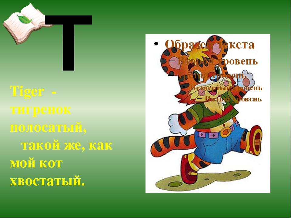 Tiger - тигренок полосатый, такой же, как мой кот хвостатый. T