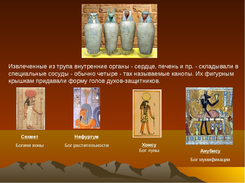 Сехмет Богиня воны Нефуртум Бог растительности Хонсу Бог луны Анубису Бог м...