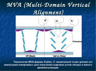 MVA (Multi-Domain Vertical Alignment) Технология MVA фирмы Fujitsu. С технич