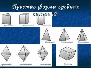 Простые формы средних сингоний