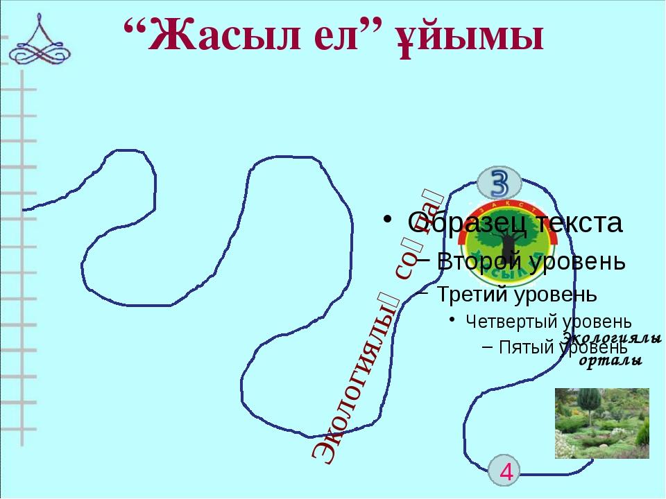 """4 """"Жасыл ел"""" ұйымы Экологиялық соқпақ Экологиялық орталық"""