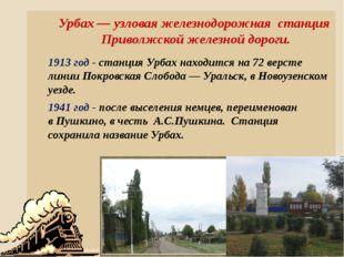 Урбах — узловая железнодорожная станция Приволжской железной дороги. 1913 год