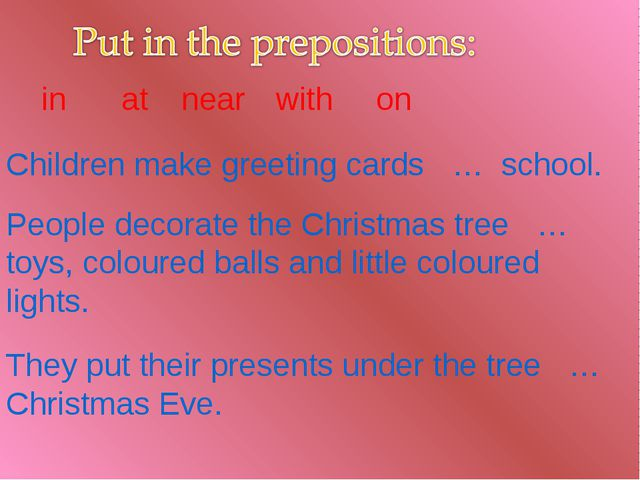 Children make greeting cards … school. People decorate the Christmas tree … t...