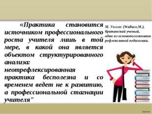 «Практика становится источником профессионального роста учителя лишь в той м