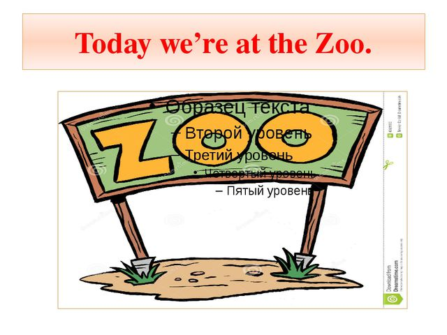 Today we're at the Zoo.