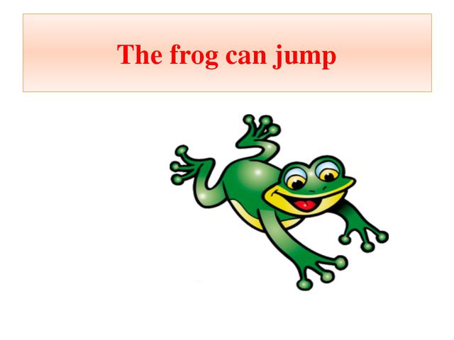 The frog can jump
