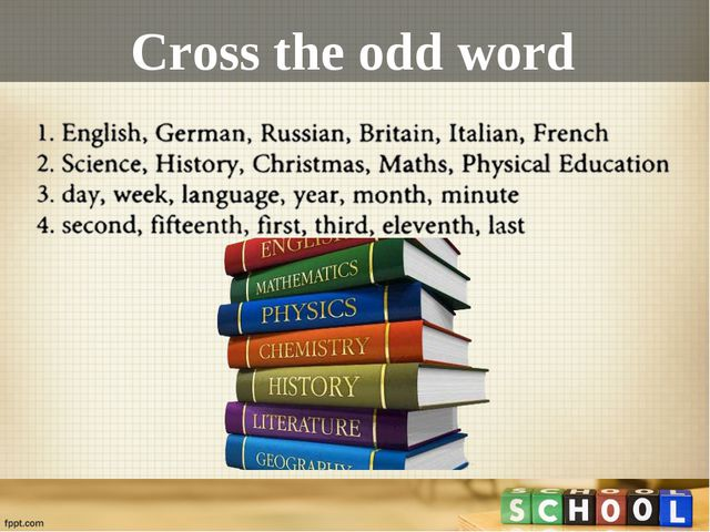 Cross the odd word