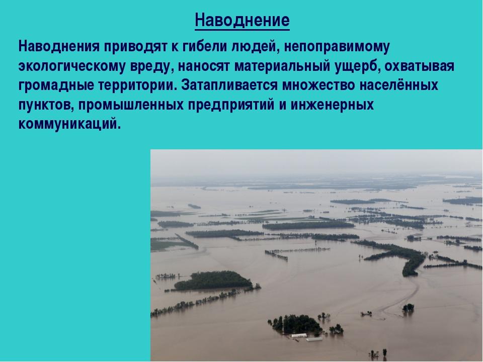 Наводнения приводят к гибели людей, непоправимому экологическому вреду, нанос...
