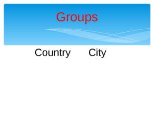 CountryCity Groups