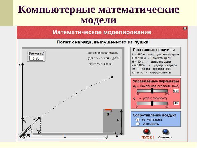 Компьютерные математические модели