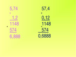 5,74 х 1,2 1148 574 6,888 57,4 х 0,12 1148 574 0,6888 + +