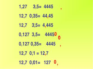 1,27 3,5= 4445 12,7 0,35= 44,45 12,7 3,5= 4,445 0,127 3,5= 4445 0,127 0,35= 4