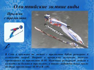Олимпийские зимние виды спорта Прыжки с трамплина В Сочи в прыжках на лыжах с