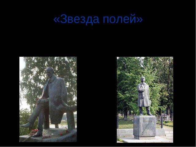 «Звезда полей» Первый памятник Николаю Рубцову был установлен в Тотьме. В 199...