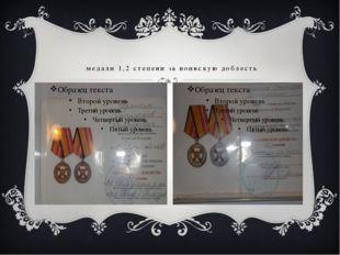 медали 1,2 степени за воинскую доблесть