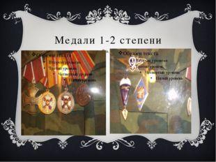 Медали 1-2 степени