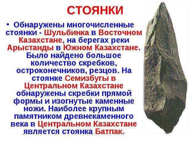 СТОЯНКИ Обнаружены многочисленные стоянки - Шульбинка в Восточном Казахстане,...