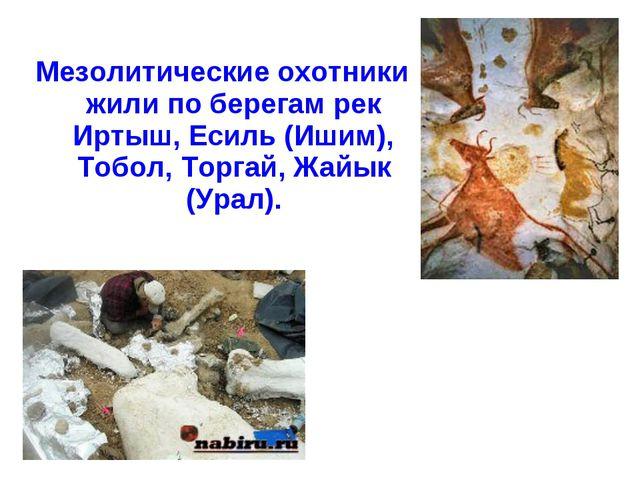 Мезолитические охотники жили по берегам рек Иртыш, Есиль (Ишим), Тобол, Торг...