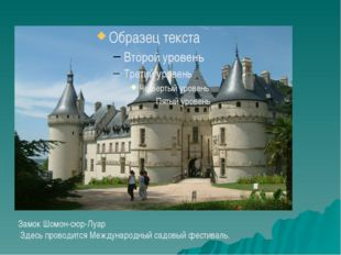 Замок Шомон-сюр-Луар Здесь проводится Международный садовый фестиваль.