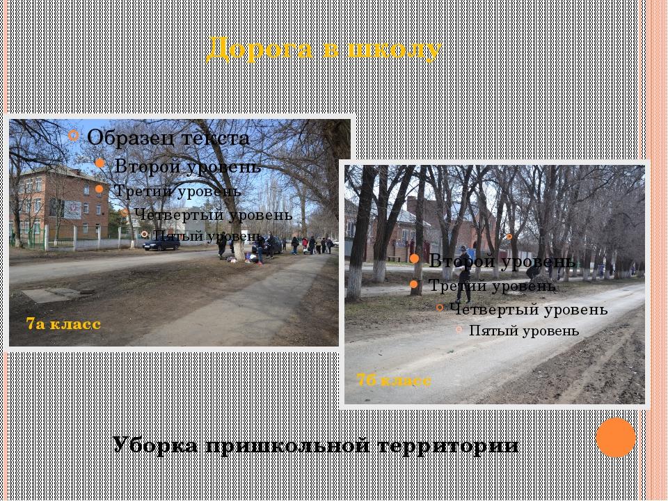 Дорога в школу Уборка пришкольной территории 7а класс 7б класс