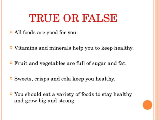 All foods are good for you. All foods are good for you. Vitamins and minera...