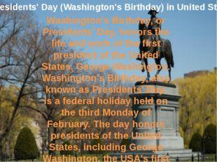 Presidents' Day (Washington's Birthday) in United States Washington's Birthda