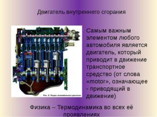 Самым важным элементом любого автомобиля является двигатель, который приводит