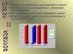 1.Нужны ли правильные многогранники в жизни? 2.Знаете ли вы о полуправильных,