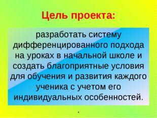 Цель проекта: