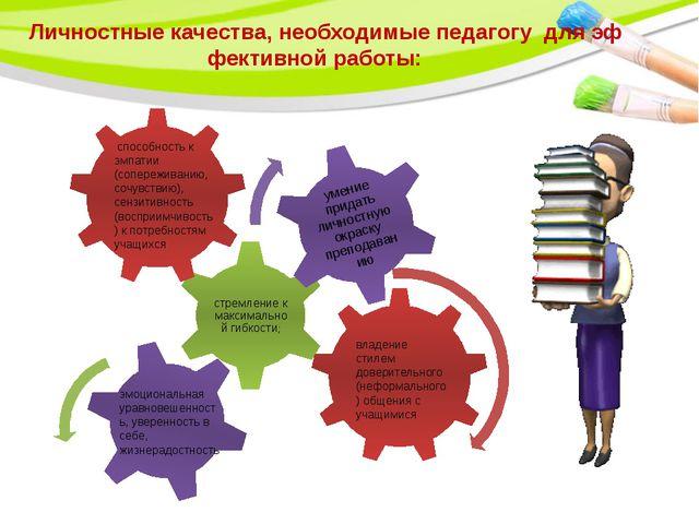 Личностные качества, необходимые педагогу для эффективной работы: способнос...