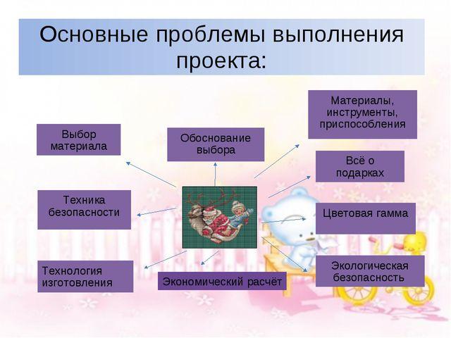 Основные проблемы выполнения проекта: Экономический расчёт Обоснование выбора...