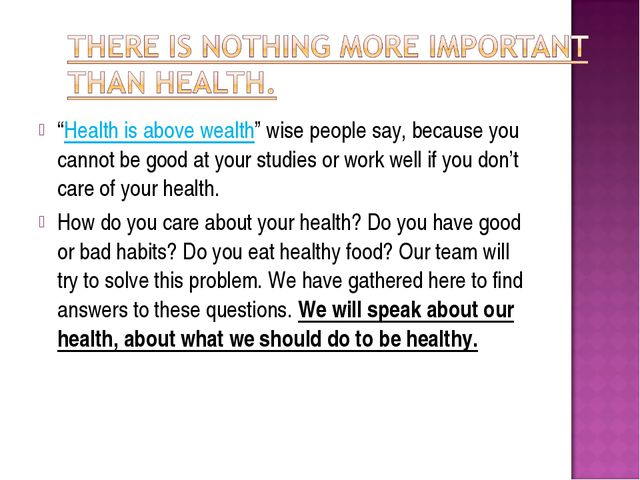 """""""Health is above wealth"""" wise people say, because you cannot be good at your..."""
