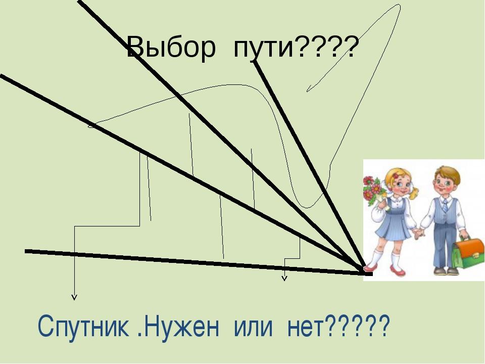 Выбор пути???? Спутник .Нужен или нет?????