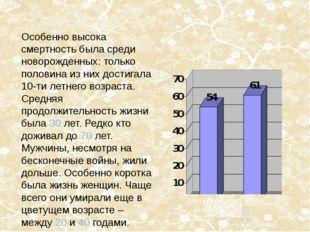 Особенно высока смертность была среди новорожденных: только половина из них д