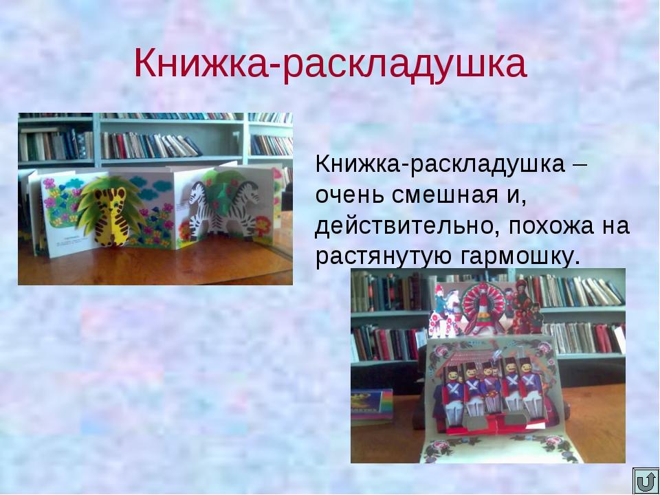 Книжка-раскладушка Книжка-раскладушка – очень смешная и, действительно, похож...