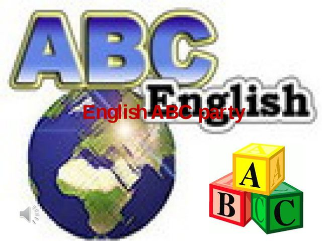 English ABC party