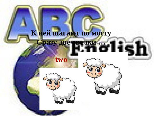two К ней шагают по мосту Сразу две овечки …