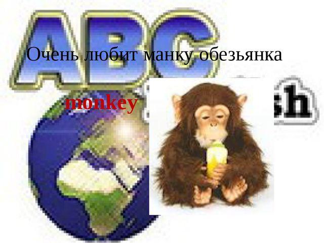 Очень любит манку обезьянка monkey