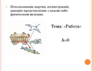 Использование картин, иллюстраций, дающих представление о каком-либо физическ