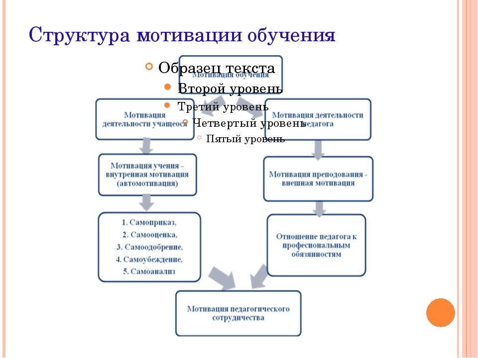 Структура мотивации обучения