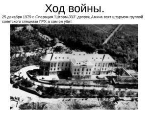 "Ход войны. 25 декабря 1979 г. Операция ""Шторм-333"".дворец Амина взят штурмом"